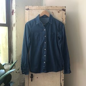 The Limited   denim button up shirt